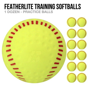 Featherlite Training Softballs - 1 Dozen