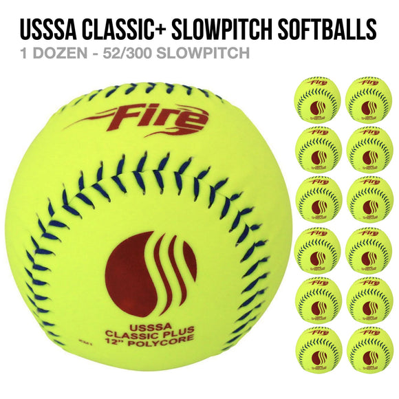 Fire USSSA Classic Plus Softball Softballs - 1 Dozen