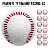 Featherlite Training Baseballs - 1 Dozen