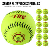 Fire Senior Slowpitch Softballs - 1 Dozen