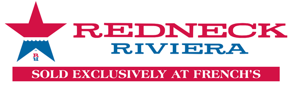 redneck riviera banner - sold exclusively at French's