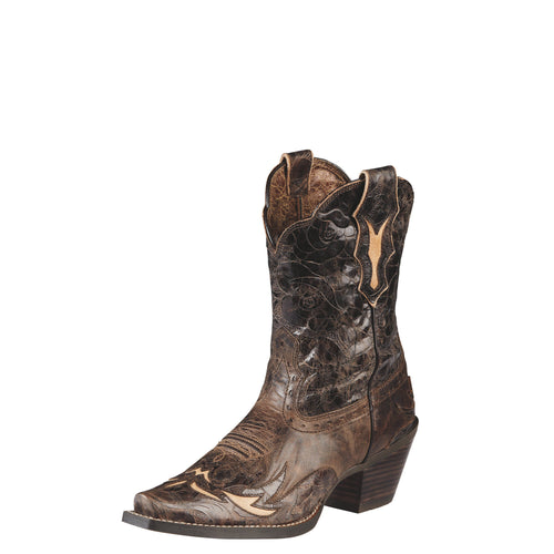 Ariat Women's Dahlia Boot - Silly Brown/Chocolate Flora - French's Boots