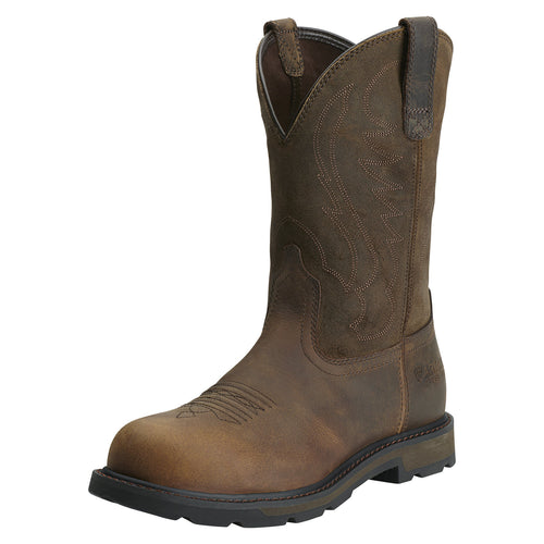 Ariat Men's Groundbreaker Pull-on Steel Toe Boot - Brown - French's Boots
