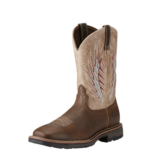 Ariat Men's WorkHog Mesteno II Boot - Rustic Brown/Stone - French's Boots