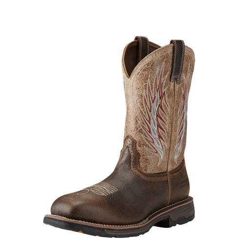 Ariat Men's WorkHog Mesteno II Composite Toe Boot - Rustic Brown/Stone - French's Boots