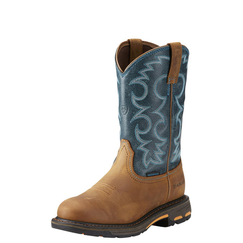 Ariat Women's WorkHog H2O Pull-on Boot - Aged Bark/Topaz - French's Boots
