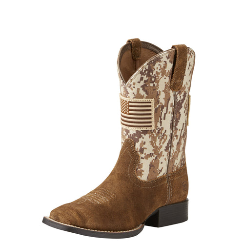 Ariat Kids Patriot Boot - Antique Mocha/Sand Camo Print - French's Boots