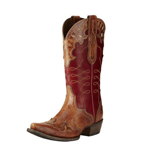 Ariat Women's Zealous Boot - Gingersnap/Rosy Red - French's Boots