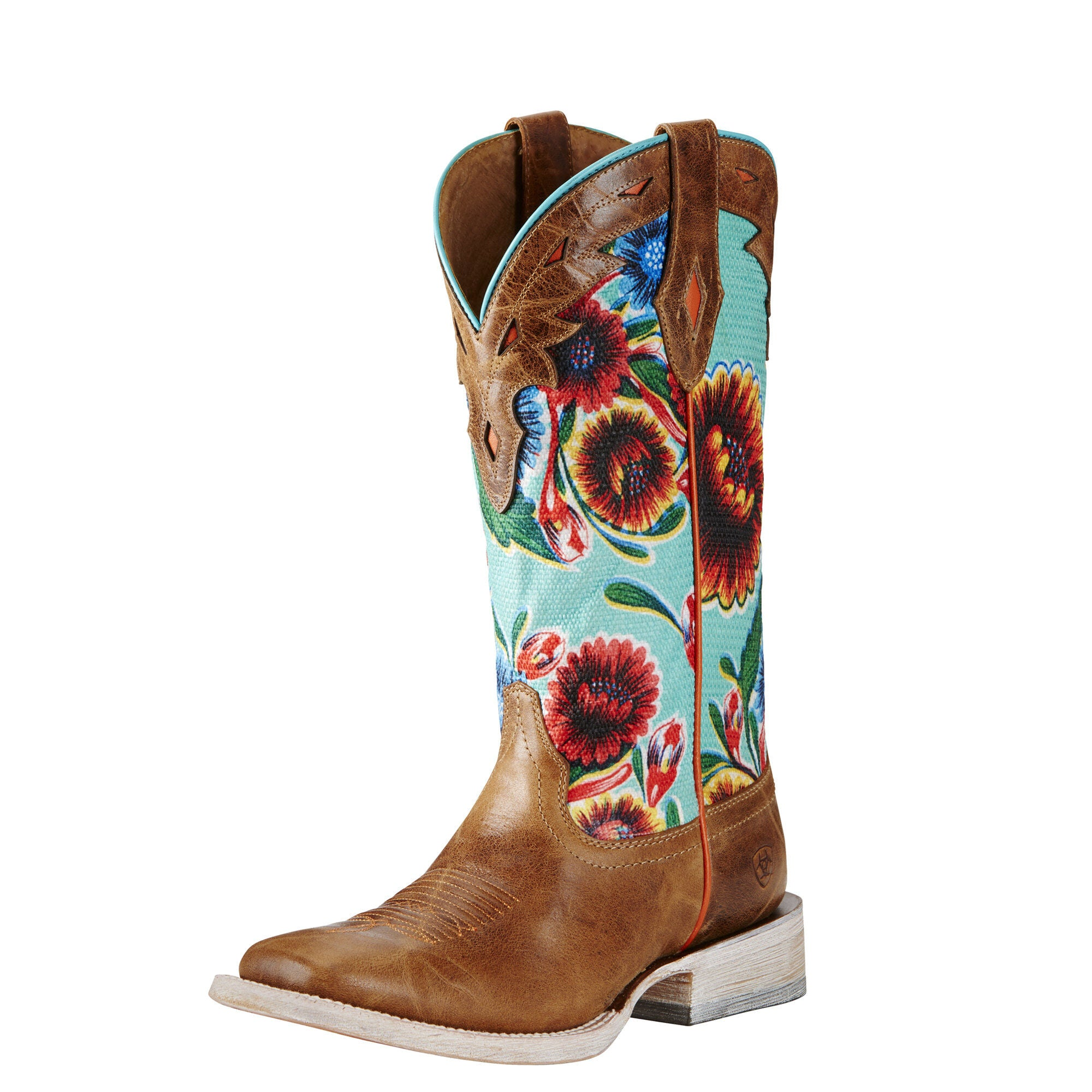 Ariat Women's Circuit Champion Boot - Bite the Dust Brown/Turquoise