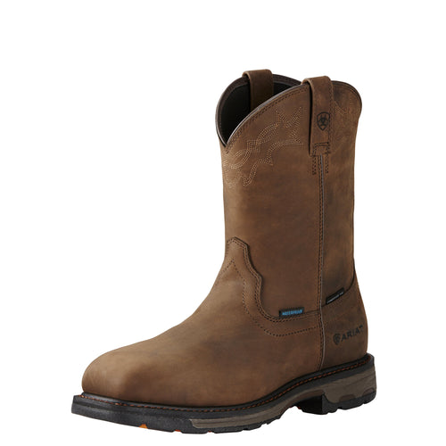 Ariat Men's WorkHog H2O Composite Toe Boot - Oily Distressed Brown - French's Boots