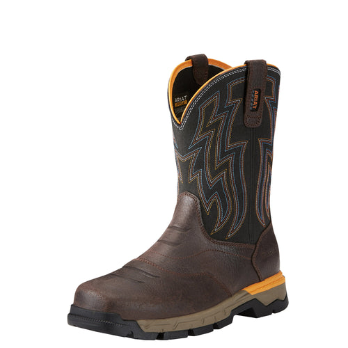 Ariat Men's Rebar Flex Western Boot - Chocolate Brown - French's Boots