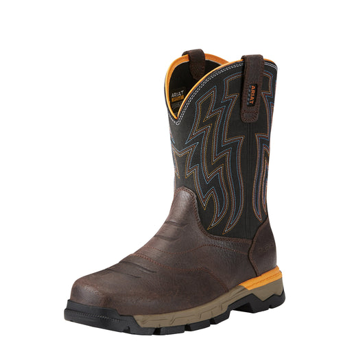 Ariat Men's Rebar Flex Western Composite Toe Boot - Chocolate Brown - French's Boots