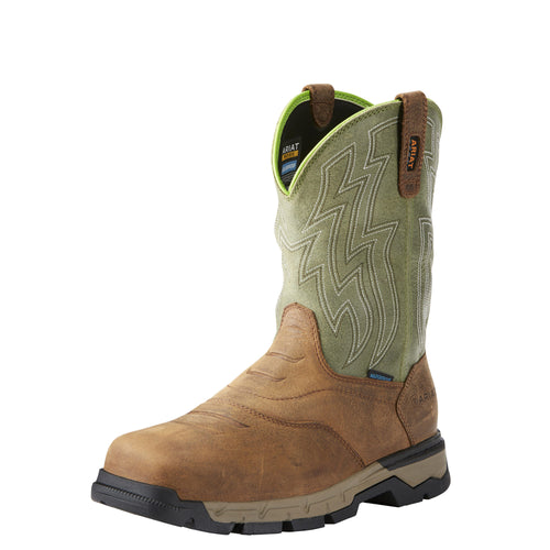 Ariat Men's Rebar Flex Western H2O Boot - Rye Brown/Green - French's Boots