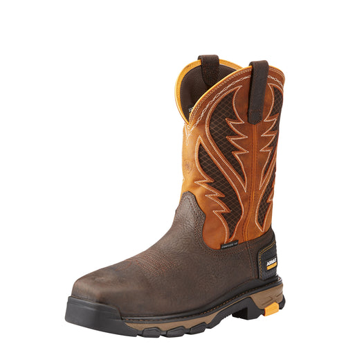 Ariat Men's Intrepid VentTek Composite Toe Boot - Bruin Brown/Orange - French's Boots