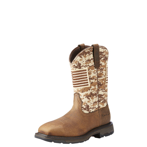 Ariat Men's WorkHog Patriot Boot - Earth/Sand Camo - French's Boots