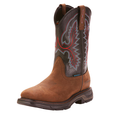 Ariat Men's WorkHog XT 11 Inch H2O Work Boot - Distressed Brown/Black