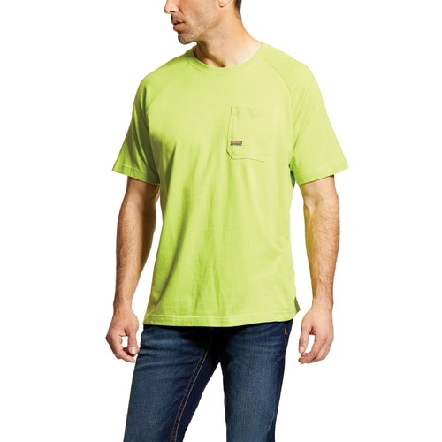 Ariat Men's Rebar Cotton Strong T-Shirt - Lime