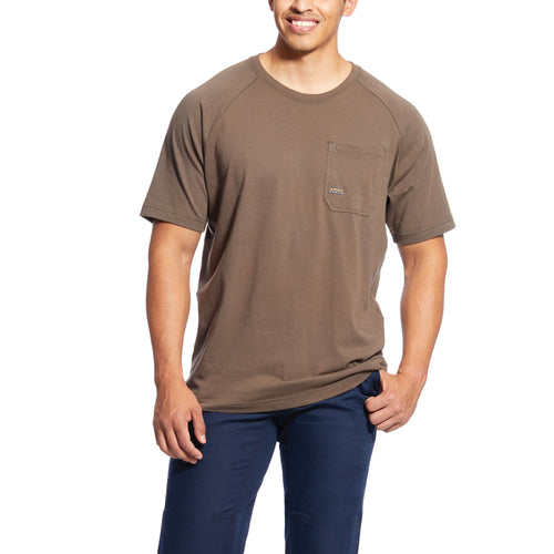 Ariat Men's Rebar Cotton Strong T-Shirt - Moss