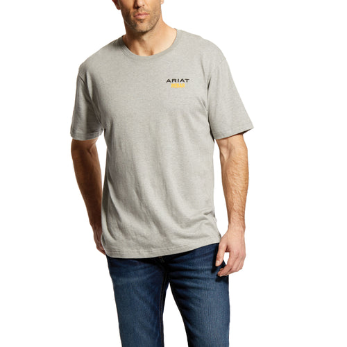 Ariat Men's Rebar Cotton Strong Logo T-Shirt - Heather Grey