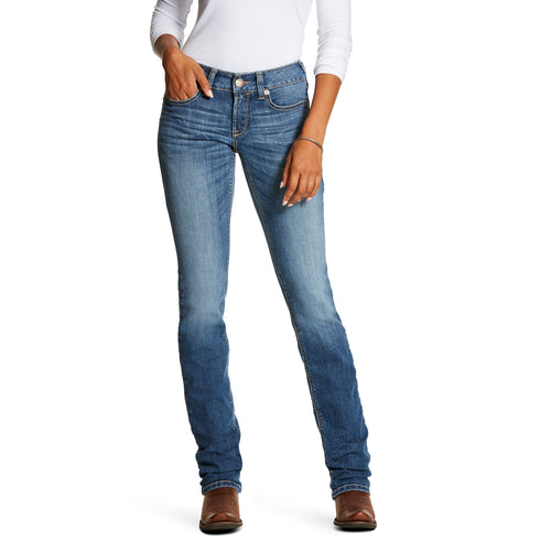 Ariat Women's R.E.A.L. Mid Rise Stretch Remi Boot Cut Jean - Stevie