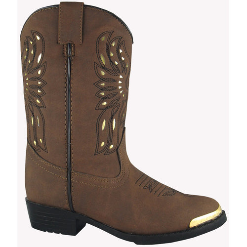 Smoky Mountain Youth Brown Distress Western Boot