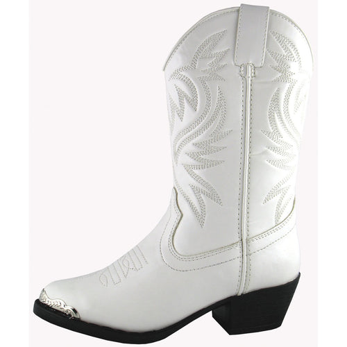 Smoky Mountain Youth White Western Boot