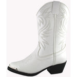 Smoky Mountain Toddler White Western Boot
