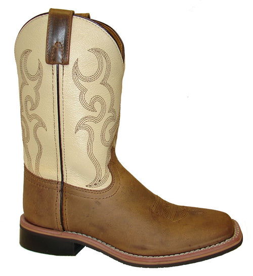 Smoky Mountain Youth Scout Brown/Cream Cowboy Boot