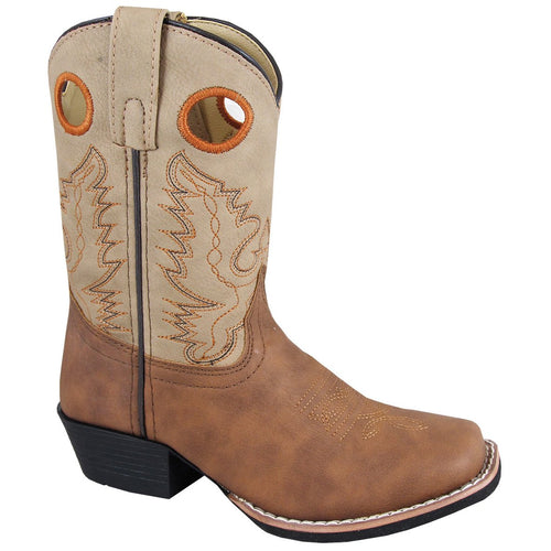 Smoky Mountain Children's Memphis Tan/Light Tan Cowboy Boot