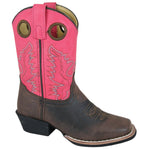 Smoky Mountain Girl's Children's Memphis Brown/Pink Cowboy Boot