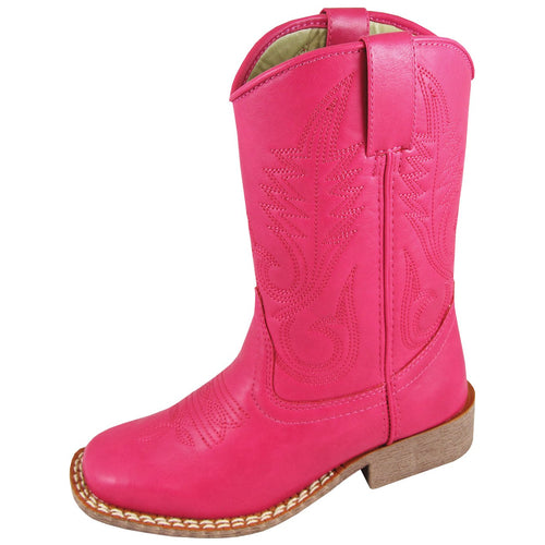 Smoky Mountain Girl's Youth Raspberry Square Toe Boot