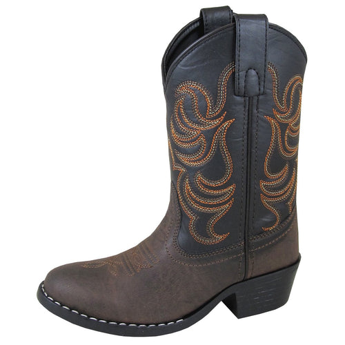 Smoky Mountain Youth Monterey Brown/Black Cowboy Boot