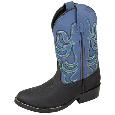 Smoky Mountain Youth Monterey Black/Blue Cowboy Boot