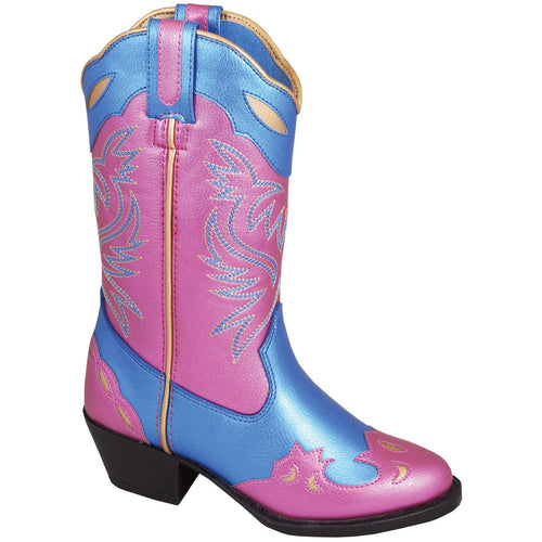 Smoky Mountain Girl's Toddler Lila Blue/Pink Cowboy Boot