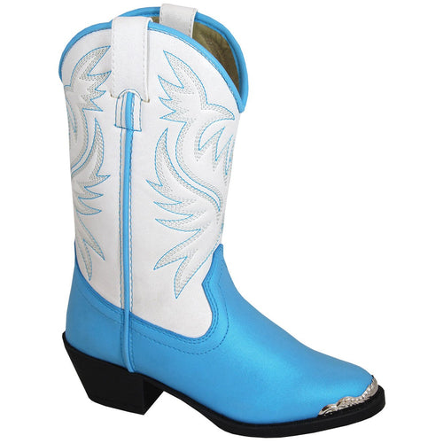 Smoky Mountain Girl's Toddler Lila Blue/White Cowboy Boot