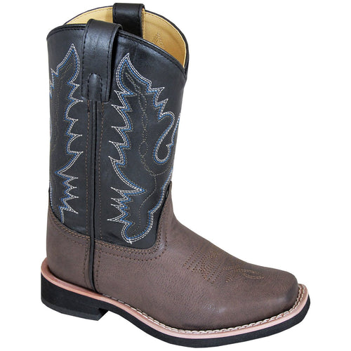 Smoky Mountain Youth Tyler Brown/Black Cowboy Boot