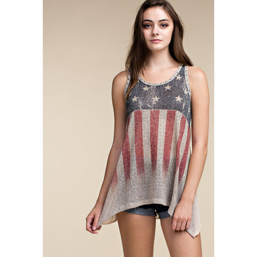 Vocal Women's Flag Style Tank Top