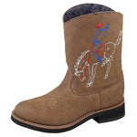 Smoky Mountain Toddler Night Horse Brown Distress Cowboy Boot