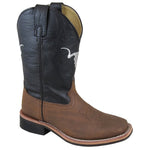 Smoky Mountain Youth The Bull Brown Distress/Black Cowboy Boot