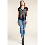 Vocal Women's Short Sleeve Top With Wings