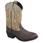 Smoky Mountain Youth Monterey Brown/Tan Cowboy Boot