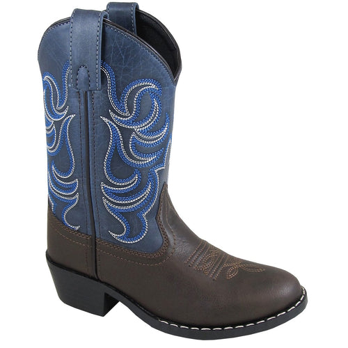 Smoky Mountain Youth Monterey Brown/Navy Cowboy Boot
