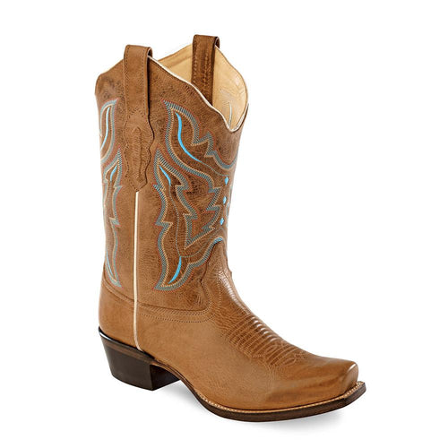Old West Women's Medium Square Toe Fashion Wear Boots - Light Brown