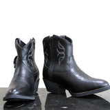 TN Boot Co. Women's Shiny Black Shortie