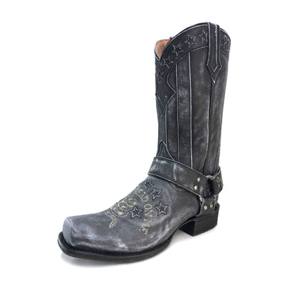 "Redneck Riviera Men's Vintage Black ""Don't Tread On Me"" Boot"