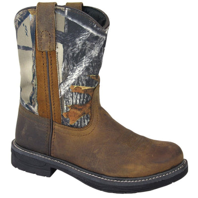 Smoky Mountain Youth Brown/True Timber Camo Wellington