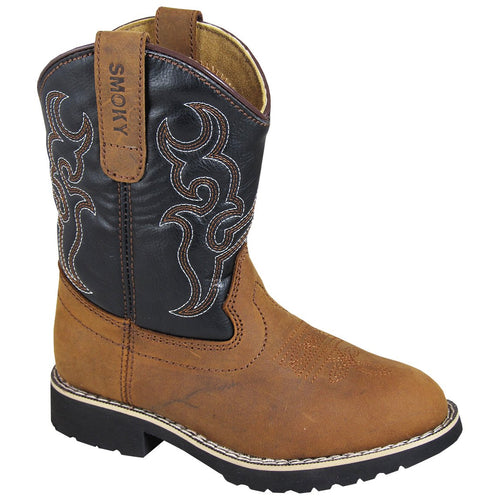 Smoky Mountain Children's Brown Distress/Black Boot
