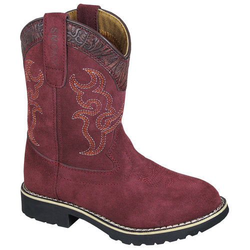 Smoky Mountain Youth Burgundy Boot
