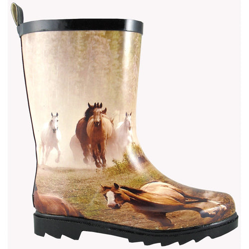 Smoky Mountain Children's Rubber Boot With Horse Print