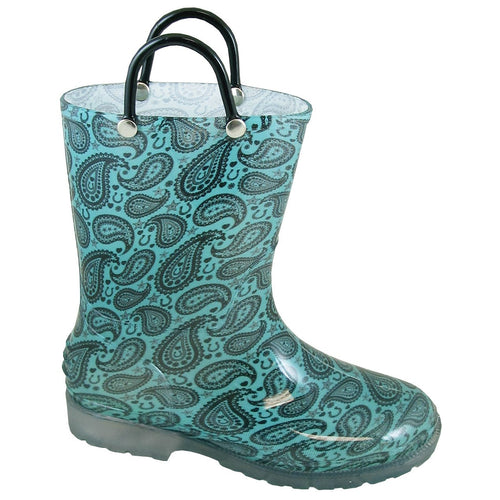 Smoky Mountain Girl's Toddler Lightning Turquoise Pvc Boot